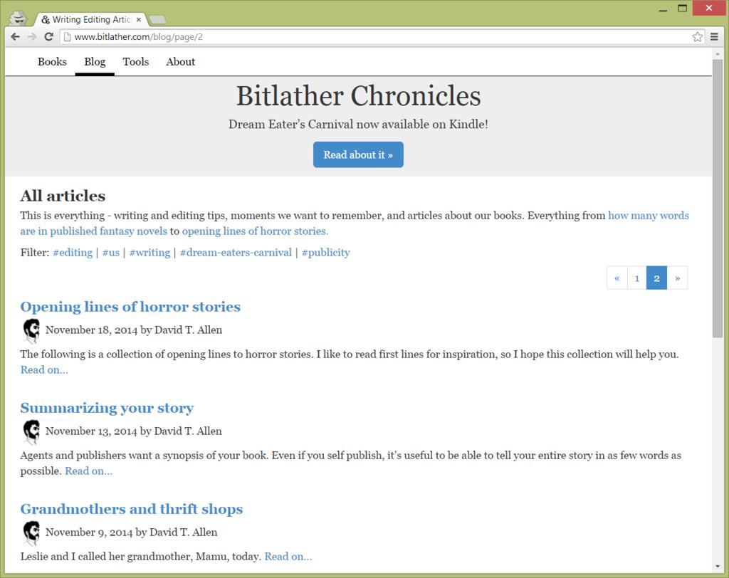 Blog Design Tweaks | Bitlather Chronicles